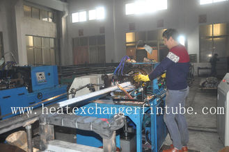 "Heat Exchanger Type G Embedded Fin Tube Machine , Diameter 3/4"" 1"""