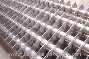 SA213 T11 / T22 Alloy Steel Welded Square Fin Tube for Economizer , H Fins